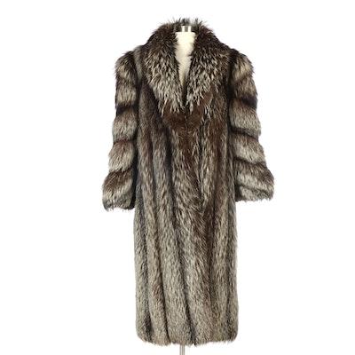Saga Fox Silver Fox Fur Full-Length Coat