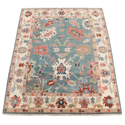 7'10 x 10'2 Hand-Knotted Indo Persian Tabriz Rug, 2010s