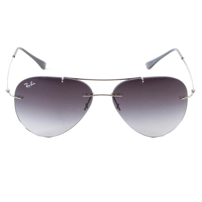Ray-Ban Light Ray RB 8055 Rimless Gradient Lens Aviator Sunglasses