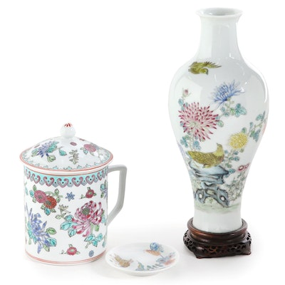 Haviland Limoges Porcelain Trinket Dish, Chinese Porcelain Tea Cup, and More