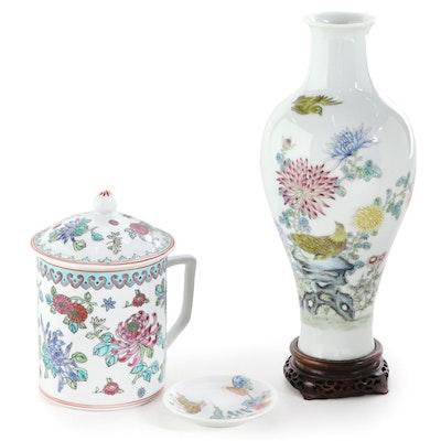Haviland Limoges Porcelain Trinket Dish, Chinese Porcelain Tea Cup, and More