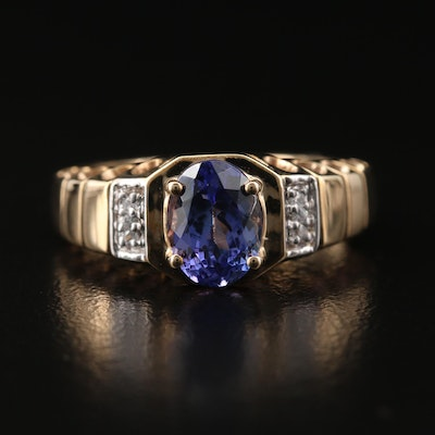 10K Tanzanite and Spinel Ring