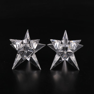 Rosenthal Glass Star Shaped Candle Holders
