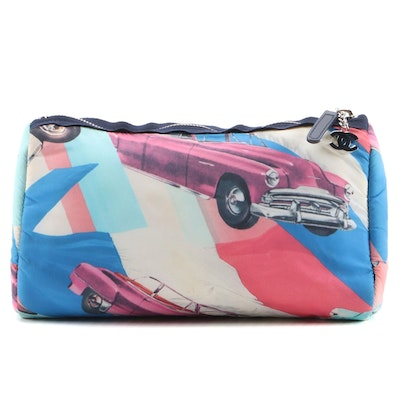 Chanel Printed Nylon Cosmetic Pouch