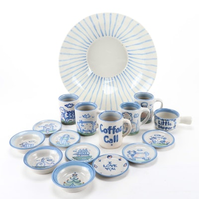 M. A. Hadley Stoneware Dinnerware and Tableware, Mid to Late 20th C.