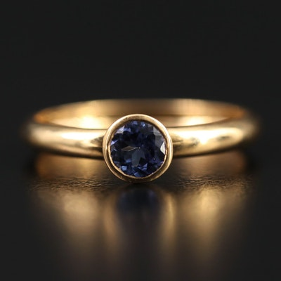 14K Bezel Set Tanzanite Ring