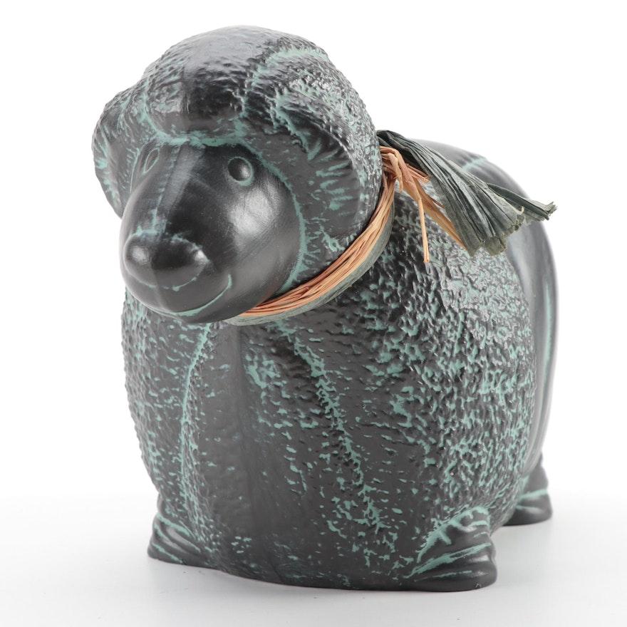 Handcrafted Ceramic Sheep Garden Sculpture