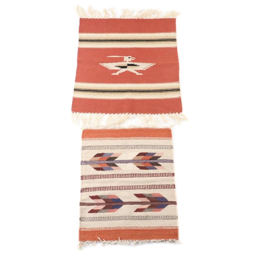 Handwoven Chimayo Wool Rug Textiles