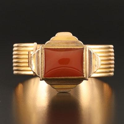 1930s Art Deco Quality Marsh Plate Glass Bangle