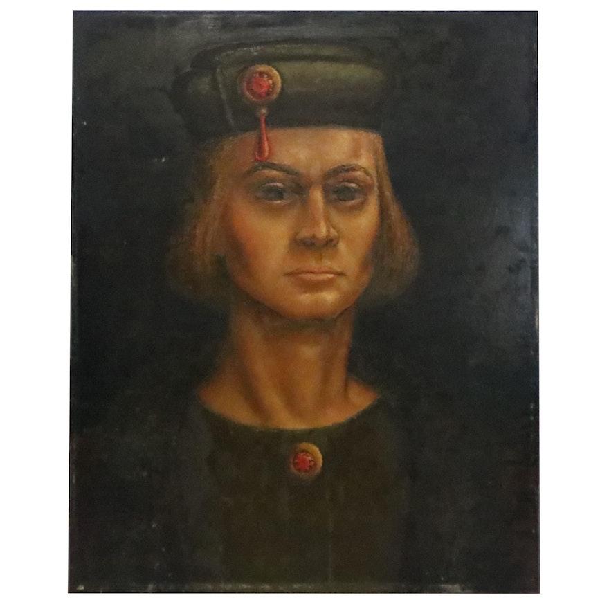 Renaissance Style Portrait Oil Painting of Young Man