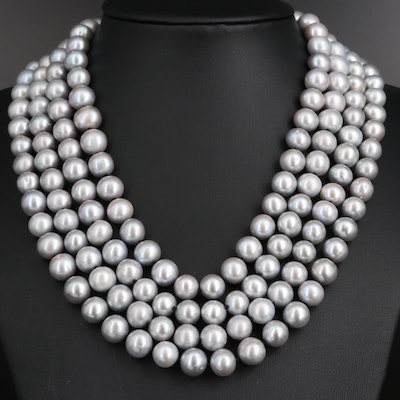 Hand Knotted Pearl Endless Necklace