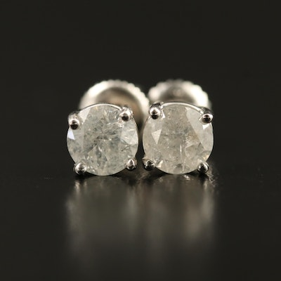 14K 1.83 CTW Diamond Stud Earrings