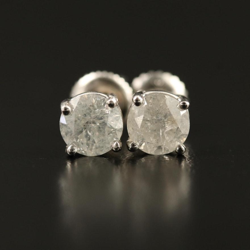 14K 1.83 CTW Diamond Stud Earrings