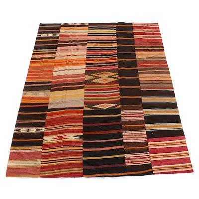 7'11 x 10'2 Handwoven Turkish Kilim Patchwork Rug, 2000s