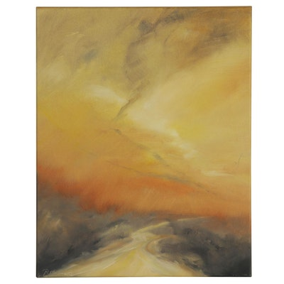 "Rebecca Manns Oil Painting ""Sunset at Yellow River,"" 2020"