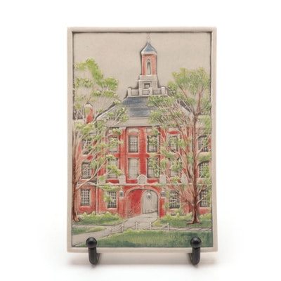 Rookwood Pottery Miami University Tile of Upham Hall