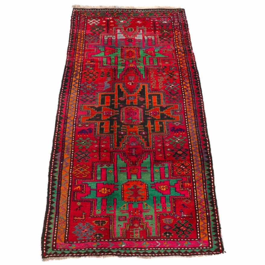 5' x 10'2 Hand-Knotted Caucasian Kazak Pictorial Rug, 1930s