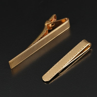 Gold Filled Tie Clip and Satin Finish Tie Clip