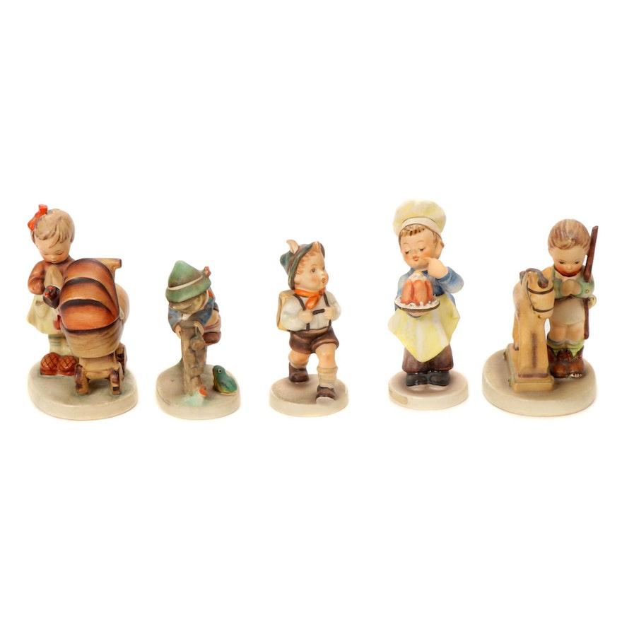 """Goebel """"Doll Mother"""", """"Baker"""" and Other Porcelain Hummel Figurines"""