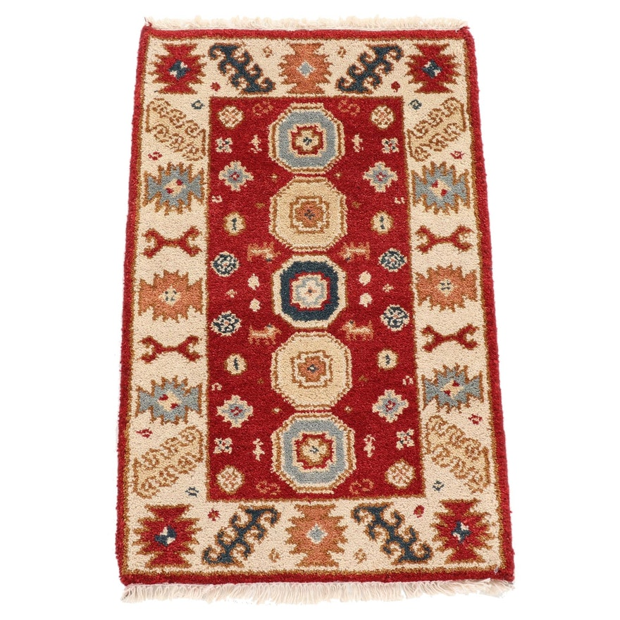 2'0 x 3'3 Hand-Knotted Indo-Caucasian Kazak Pictorial Rug, 2010s