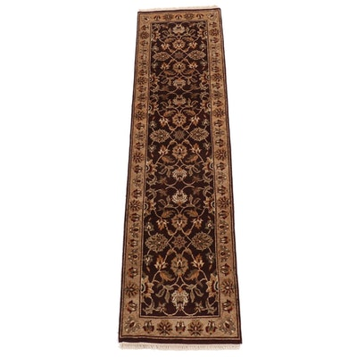 2'6 x 9'11 Hand-Knotted Afghani Persian Tabriz Runner Rug, 2000s