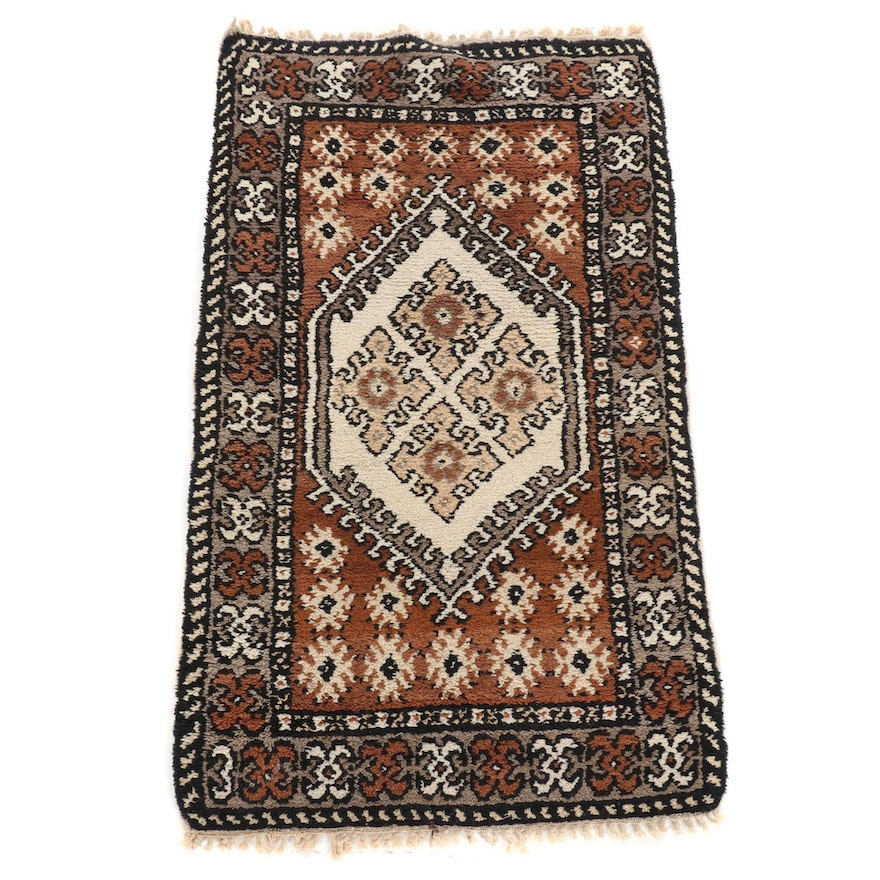 2'1 x 3'7 Hand-Knotted Moroccan Rug, 1970s