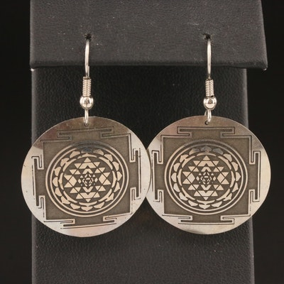 Sri Yantra Motif Dangle Earrings