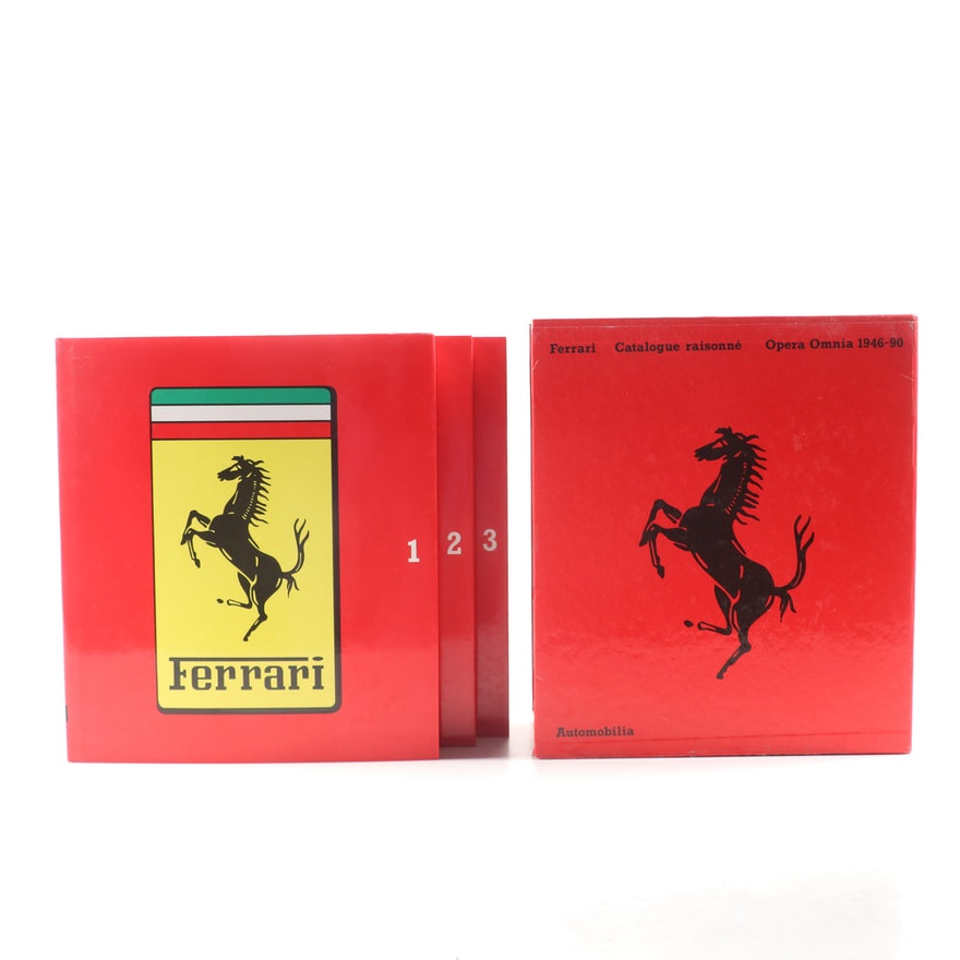 """Ferrari 1946–1990: Opera Omnia"" Catalogue Raisonné Three-Volume Set, 1990"