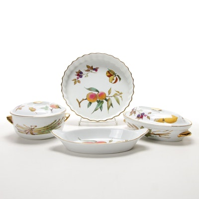 "Royal Worcester ""Evesham Gold"" Porcelain Bakeware and Serveware"