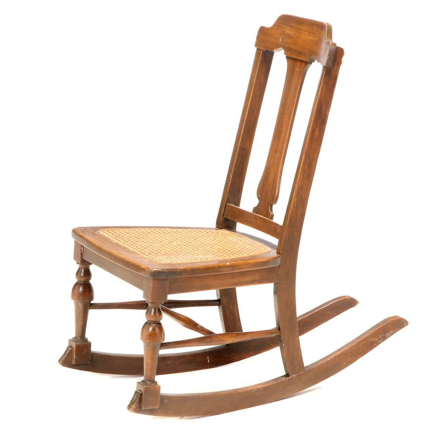 Colonial Revival Child's Rocking Chair, Late 19th/Early 20th Century