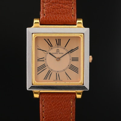 Two Tone Daniel Mink Thin Quartz Wristwatch