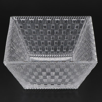 Tiffany & Co. Basket Weave Crystal Bowl