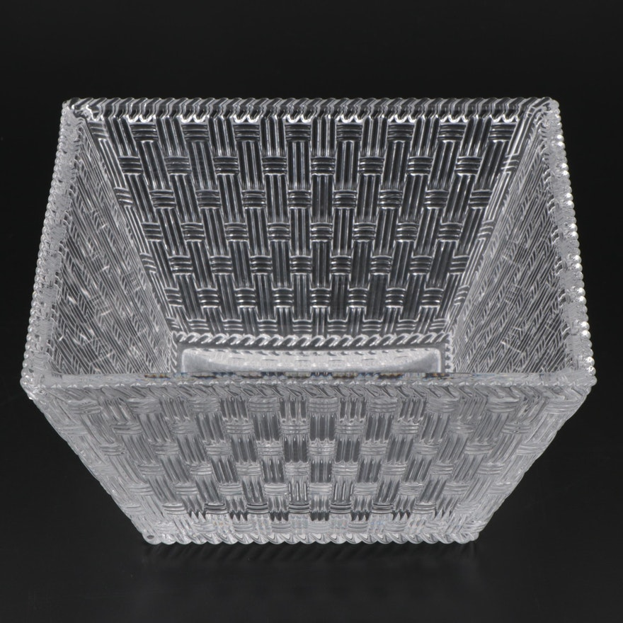 Tiffany & Co. Basket Weave Crystal Bowl