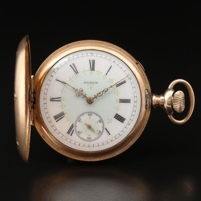1904 Elgin Gold Filled Hunting Case Pocket Watch