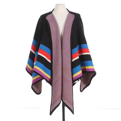 Henri Bendel New York Striped Wool Cape
