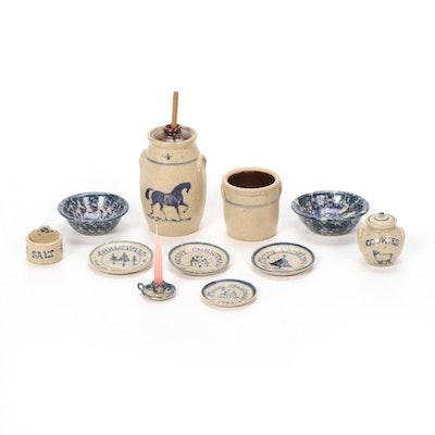 Graber Stoneware Miniature Kitchen Accessories, 1990s