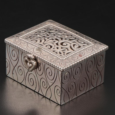 Brighton Silver Tone Metal Trinket Box