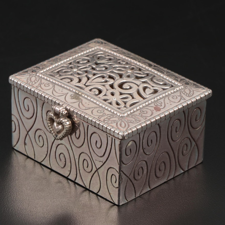 Brighton Silver Tone Metal Trinket Box