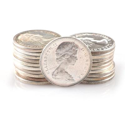 Twenty Canadian Silver Dollars, 1953-1967