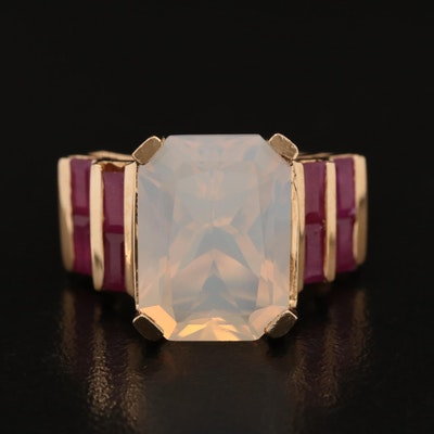 10K Opal and Corundum Ring
