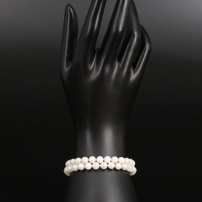 Double Strand Pearl Bracelet with 14K Clasp