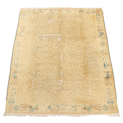 7'10 x 9'11 Hand-Knotted Chinese Peking Rug, 1870s