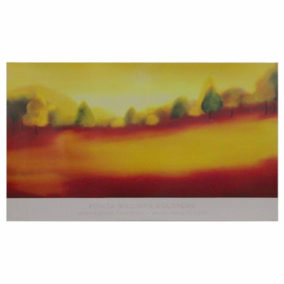 """Offset Lithograph after Bonita Williams Goldberg """"Early Morning Raspberry,"""" 2007"""