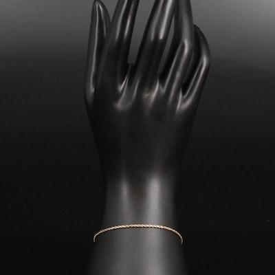 10K Rope Chain Bracelet