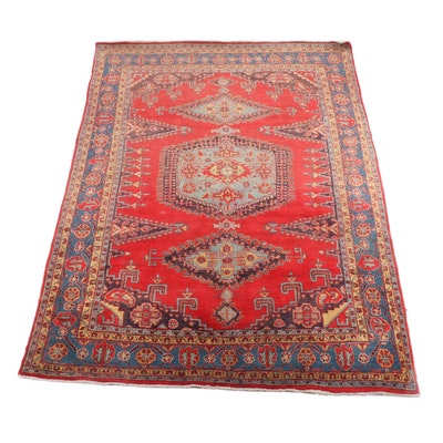 7'6.5 x 10'10 Hand-Knotted Persian Shiraz Wool Rug