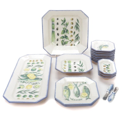 "Williams-Sonoma ""Sardinia"" Ceramic Dinnerware"