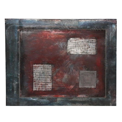 Charles Vance Brand Abstract Mixed Media, Late 20th Century