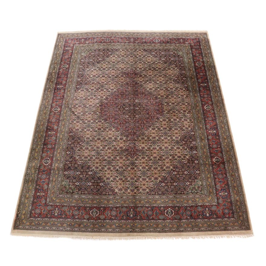 8'3 x 11'5 Hand-Knotted Indo-Persian Tabriz Room Sized Rug, 1990s