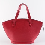 Louis Vuitton Saint-Jacques Handbag in Castilian Red Epi Leather