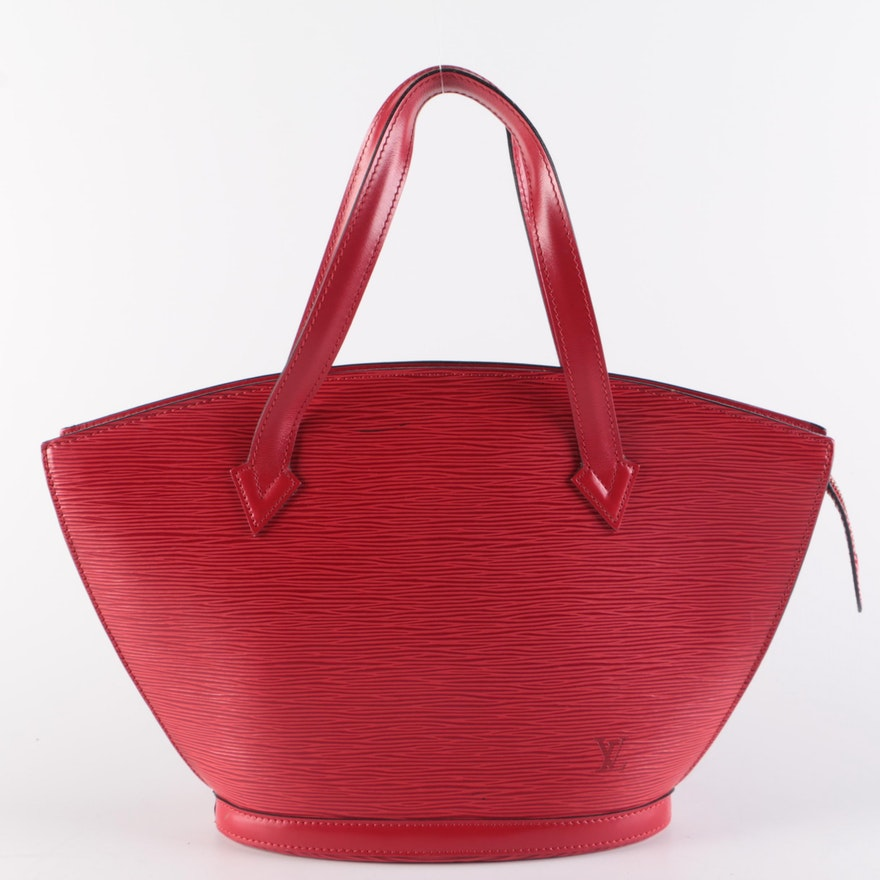 Louis Vuitton Saint-Jacques Handbag in Castilian Red Epi Leather